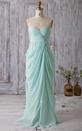 Sexy Halter Sheath Chiffon Long Dress With V Neck Dorris