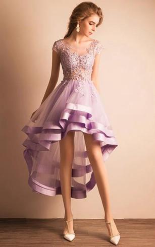 High Low Formal Dresses Cheap Hi Low Prom Dress Dorris