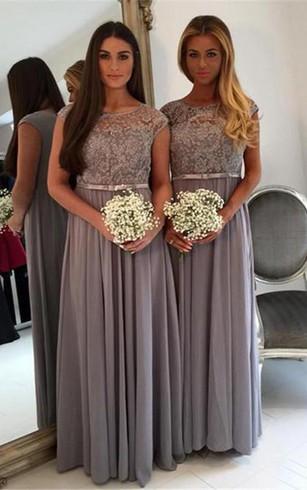 Modest Long Sleeve Bridesmaids Dresses High Neck