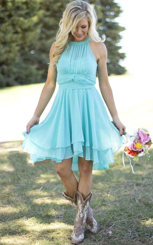 Cheap Country Bridesmaids Dresses Retro Bridesmaid Gowns