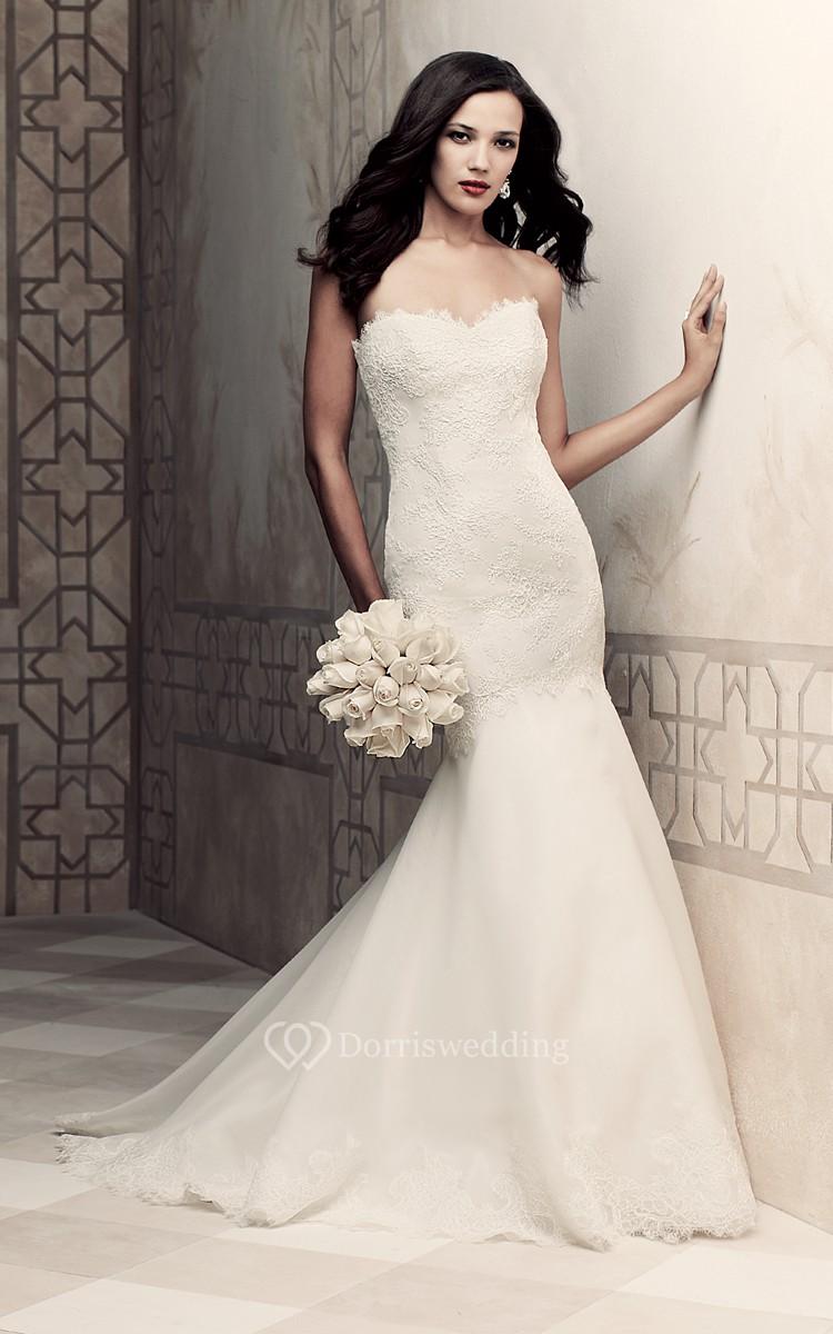 Mermaid sweetheart elegant dress with tulle skirt dorris for Tulle skirt under wedding dress