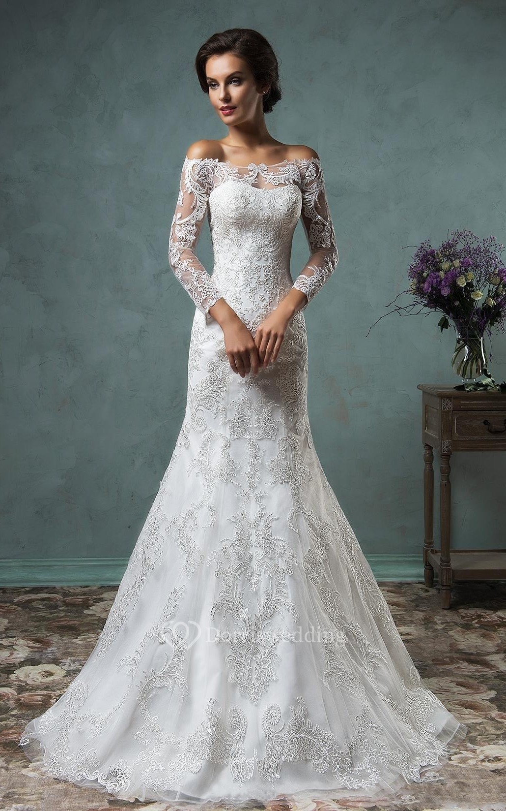 cheap wedding dresses clearance wedding dresses A Line Mini Off The Shoulder Long Sleeve Bell Beading Appliques Button Lace