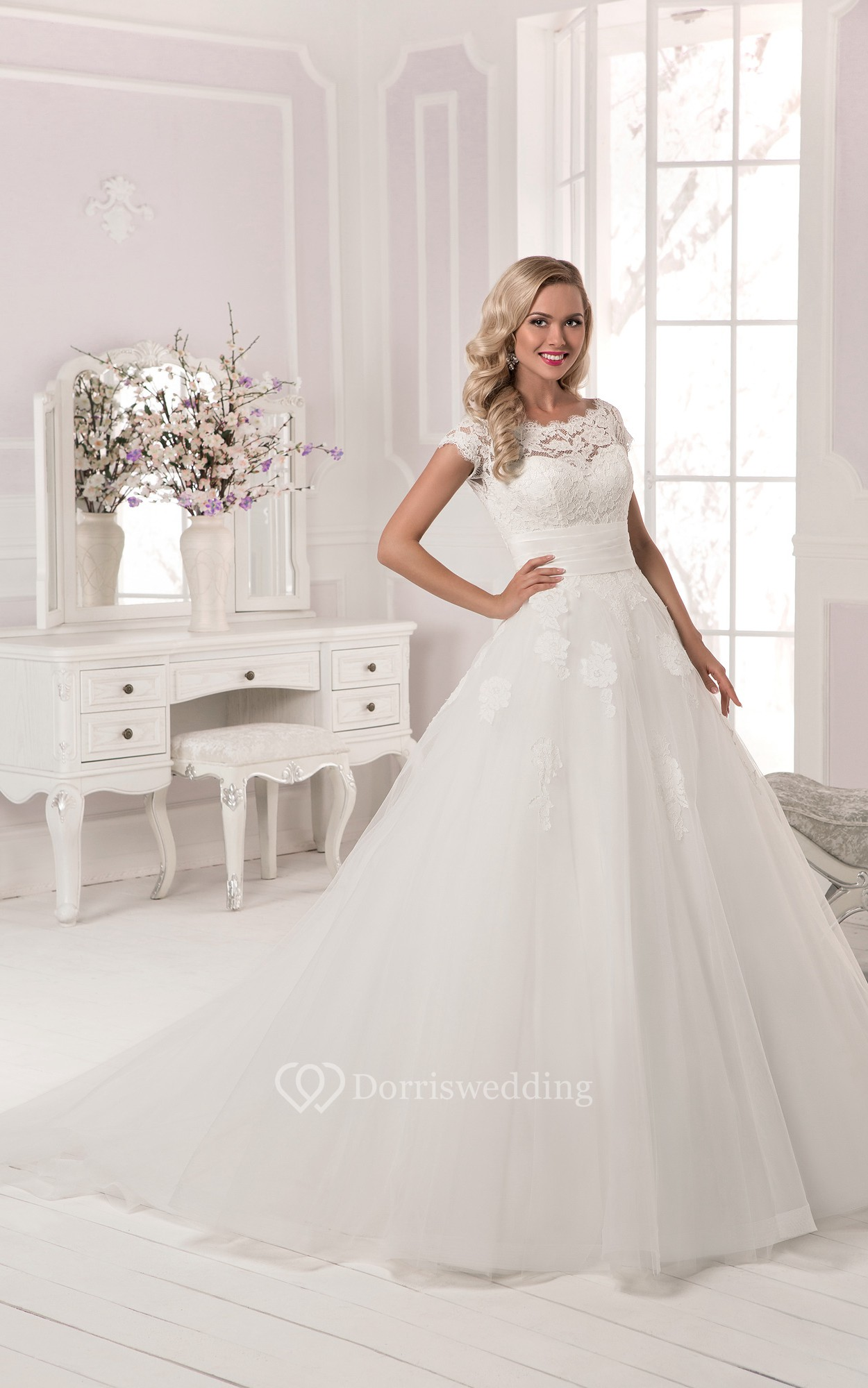 Low Illusion Back Wedding Dress Style 6125 Price : Home gt cheap wedding dresses by features