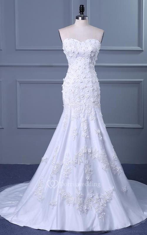 Mermaid tea length off the shoulder one shoulder straps for One shoulder tea length wedding dress
