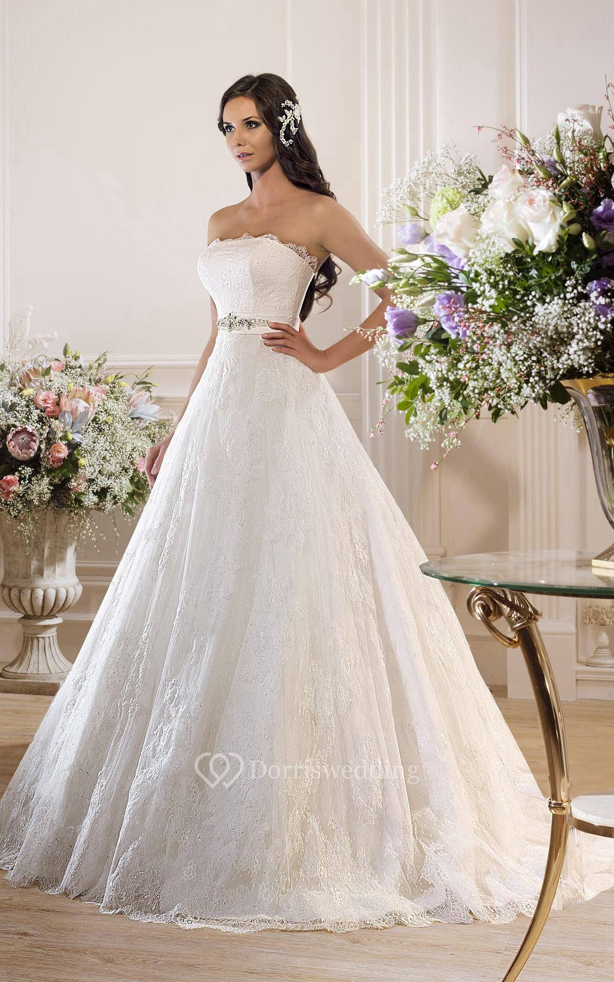 Ball gown floor length strapless sleeveless corset back for Corsets under wedding dress