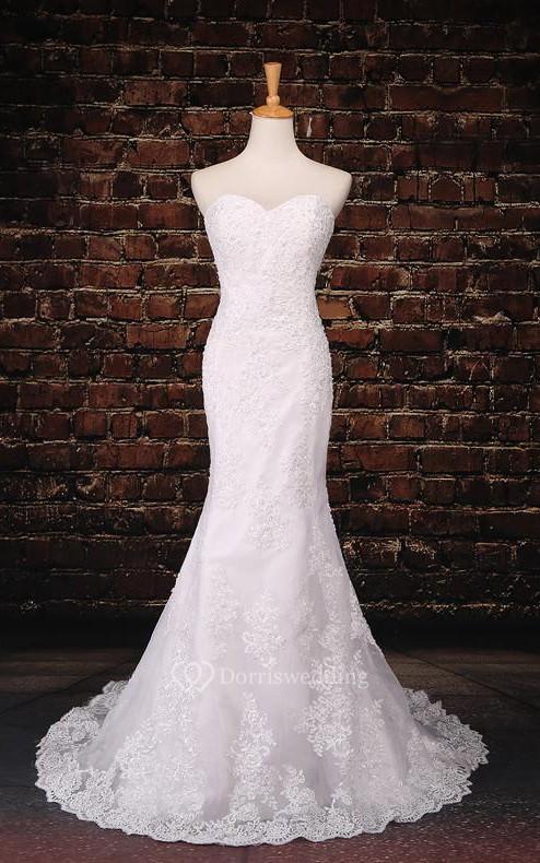 Trumpet tea length off the shoulder one shoulder for One shoulder tea length wedding dress
