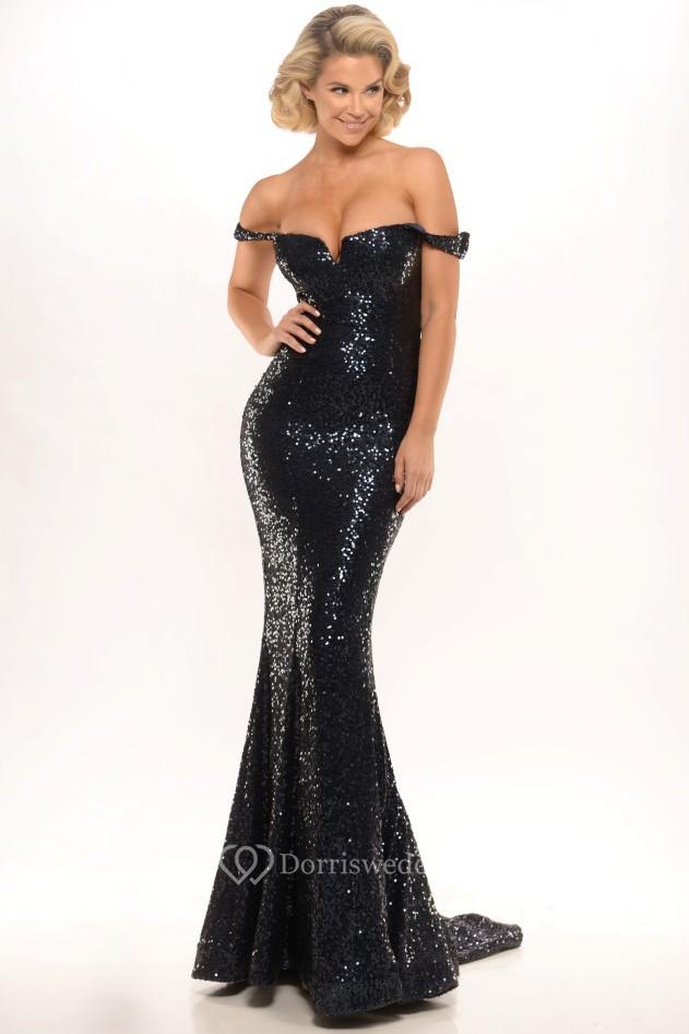 Online off the shoulder zipper back sheath dress