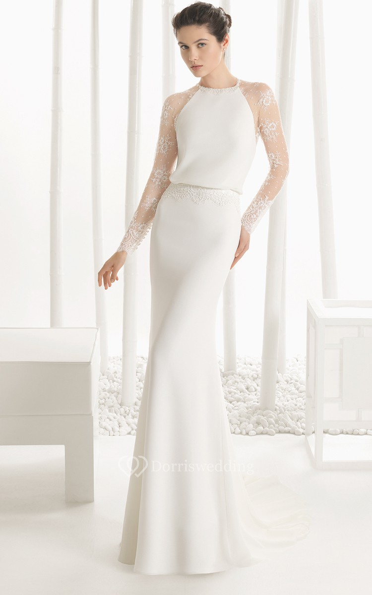 Low Illusion Back Wedding Dress Style 6125 Price : Cheap wedding dresses gt by silhouette sheath