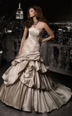 Trumpet Floor-Length Strapless Sleeveless Corset-Back Satin Dress With Pick Up And Beading