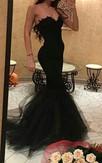 Sexy Black Sweetheart Mermaid Prom Dress 2016 With Ruffles