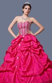 Flamboyant Beaded and Ruffled Quinceanera Ball Gown