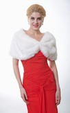 Simple Faux Fur Wedding Wrap