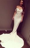 Glitz Off-the-Shoulder Sequins Prom Dresses 2016 Mermaid Floor Length
