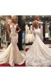 Delicate Mermaid Lace Appliques Wedding Dress 2016 Court Train