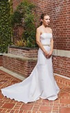 Mermaid Satin Strapless Bridal Gown With Chic Waistbelt