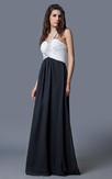 Femme Beaded One-shoulder Flowy Chiffon Prom Gown