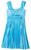 Sleeveless A-line Pleated Dress With Straps and Bow