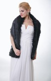 Simple And Timeless Faux Fur Bridal Wrap