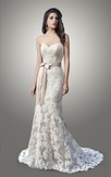 Strapless Sweetheart Lace Wedding Dress With Sexy Back