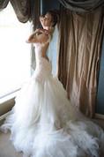 Glamorous Pearls Mermaid Wedding Dress 2016 Tulle Lace