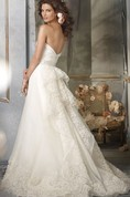 Exquisite Draped Bodice a Line Organza Gown With Floral Embroidered Hem