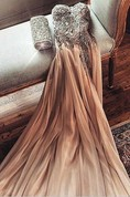 Gorgeous Sweetheart Crystal Prom Dress 2016 Long Chiffon Party Gowns