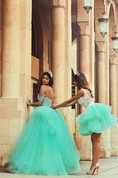 Modern Off-the-shoulder Tulle Prom Dress Open Back With Lace