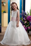 Sweet Sleeveless V-Neck Flower Girl Dress With A-Line Silhouette