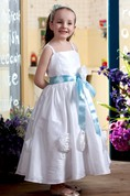 Lovely Sleeveless A-Line Flower Girl Dress With Bow