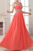 Charming Criss-Cross Beading A-Line Prom Dress
