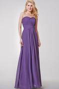 Sweetheart A-line Ruched Long Chiffon Dress