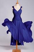 Wonderful A-line Dropped Tea-length Chiffon Dress
