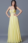Glamorous Beaded Sweetheart Chiffon Prom Gown