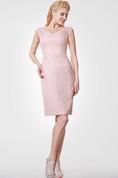 Vintage Inspired V-neck Cap-sleeved Sheath Knee Length Dress