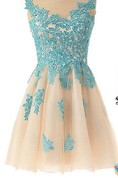 Lovely Illusion Cap Sleeve Short Homecoming Dress With Lace Appliques