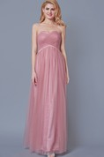 Sweetheart Empire Waist Pleated Tulle Gown With Crystal-detailing