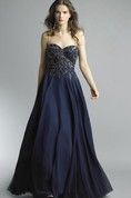 A-line Floor-length Sweetheart Sleeveless Chiffon Backless Dress