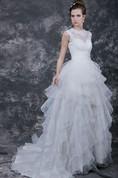 Romantic Ruffled Wedding Dress With Waistband