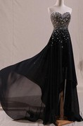 Sparkling Sweetheart Beaded High-Low Prom Dress