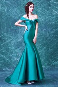 Newest Off-the-shoulder Mermaid 2016 Prom Dress Sweep Train Zipper