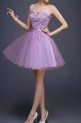 Superb Jewel Neck A-Line Short Prom Dress
