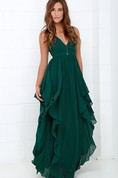 Sleeveless Chiffon Stylish Dress With Ruffles