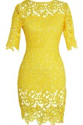 Half-sleeved Sheath Lace Dress With Bateau Neck