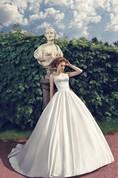 A-Line Floor-Length Sweetheart Sleeveless Corset-Back Satin Dress With Beading