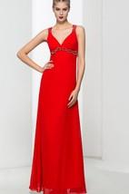 Straps Beading Red Prom Dress