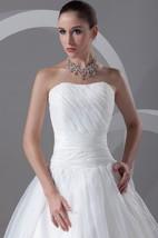 Stylish Strapless Ball Gown Sleeveless Satin Organza Most Wedding Dresses
