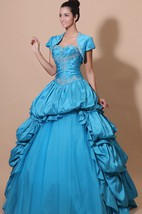 Sweetheart A-Line Quinceanera Ball Gown With Pick-Up Ruffles