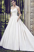 Satin Elegant Backless Ball Gown With Pokets