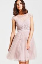 Beaded Illusion Neckline Dress With Back Keyhole