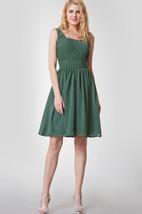 Sleeveless Scoop Neck Ruched Short Chiffon Dress